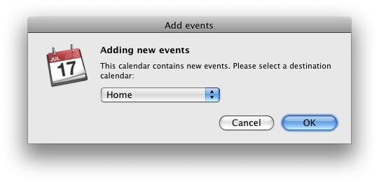 iCal screen capture